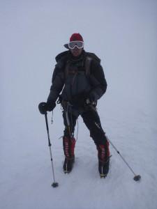 Pavel na vrcholu Pik Koržněvské, 7105m