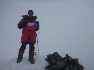 Akim na vrcholu Pik Koržněvské, 7105m